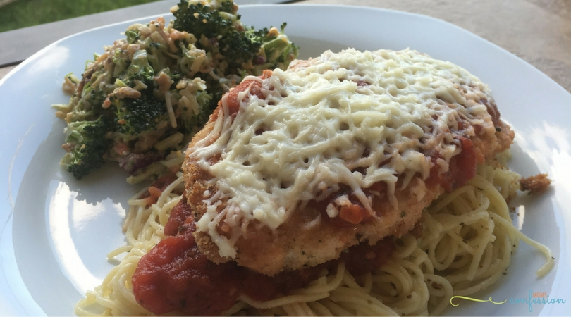 This Easy Chicken Parmesan Recipe is amazing and so simple to make at home. Y'all have to try it! You can't go wrong with the delicious flavors that this chicken parmesan recipe has to offer.