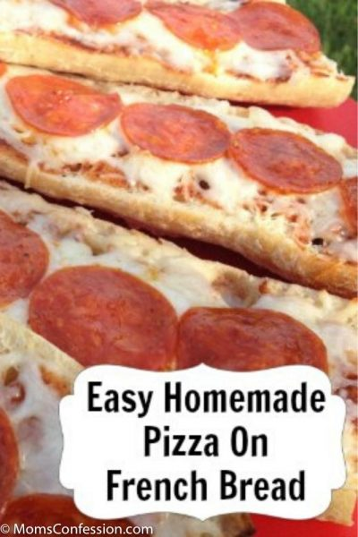 Homemade Pizza on French Bread Recipe