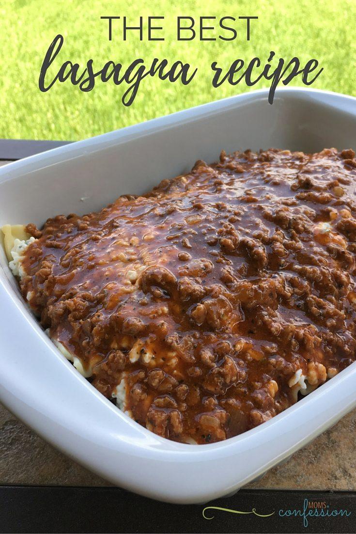 The Best Homemade Lasagna Recipe