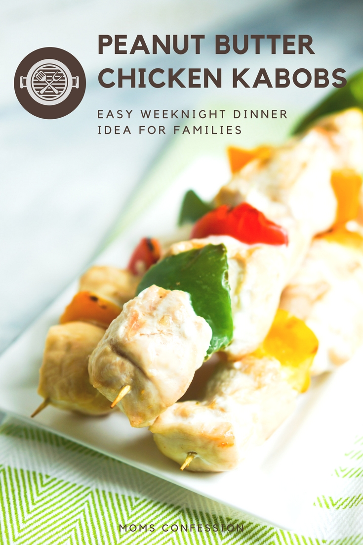 These easy grilled chicken skewers with peanut sauce and vegetables are ready in 30 minutes and make the perfect spring and summer dinner idea for families.