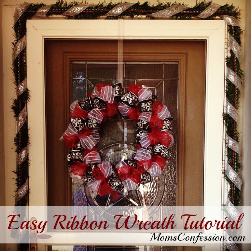 Easy Ribbon Wreath Tutorial