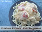 Put a spin on the traditional homemade chicken alfredo that's loaded with flavor when you make this chicken alfredo recipe with pepperoni!