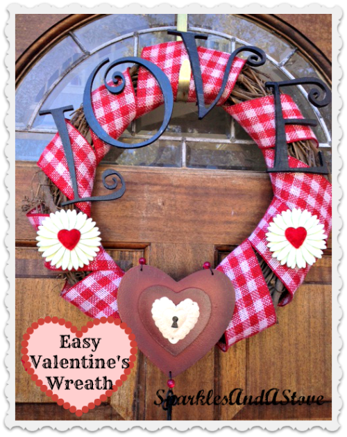 This easy burlap wreath is the perfect Valentine's craft idea to celebrate the day of love in February. In 15 minutes, you can make this Valentine's wreath with your kids help too!