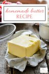 This homemade butter recipe is super easy to make and like a mini science lesson for the kids all wrapped into getting them in the kitchen to cook! WIN!