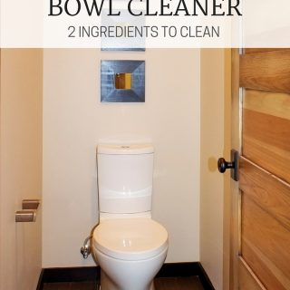 Simple and easy wins the race on this homemade cleaner! If you have these two ingredients on hand (which I'm sure you do), you should give this homemade toilet bowl cleaner a try!