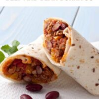 Easy Homemade Beef and Bean Burrito Recipe - A Classic Recipe Idea for Burrito Lovers