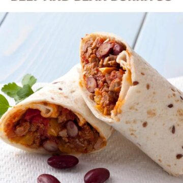 Easy Homemade Beef and Bean Burrito Recipe