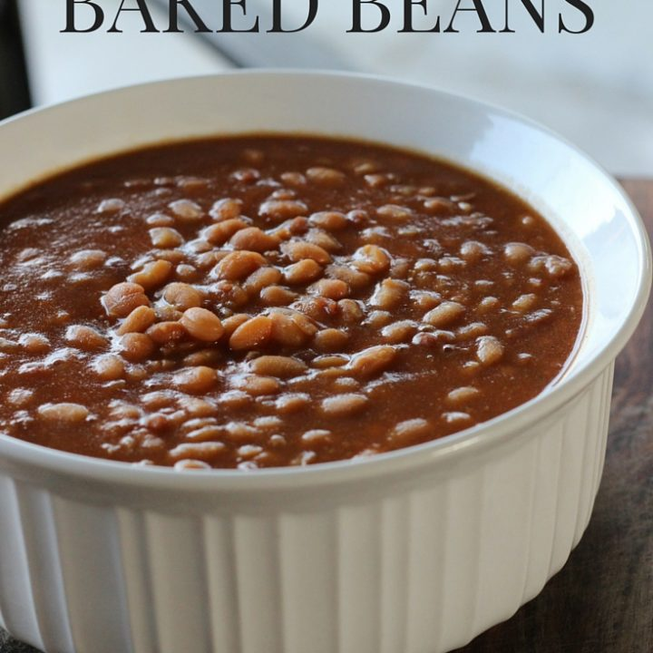 barbecue baked beans in a bowl