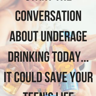 Underage drinking is a big problem with raising teens. My personal experience with underage drinking has helped me open the conversation with my teens so they understand how underage drinking affects those around them.