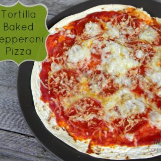 Crispy Tortilla Pizza with Pepperoni