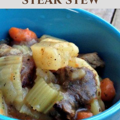 Leftover Grilled Steak Stew