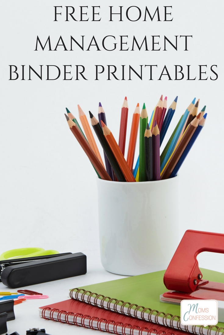 Get your home organized and take the first step to get your life organized with these free home management binder printables.