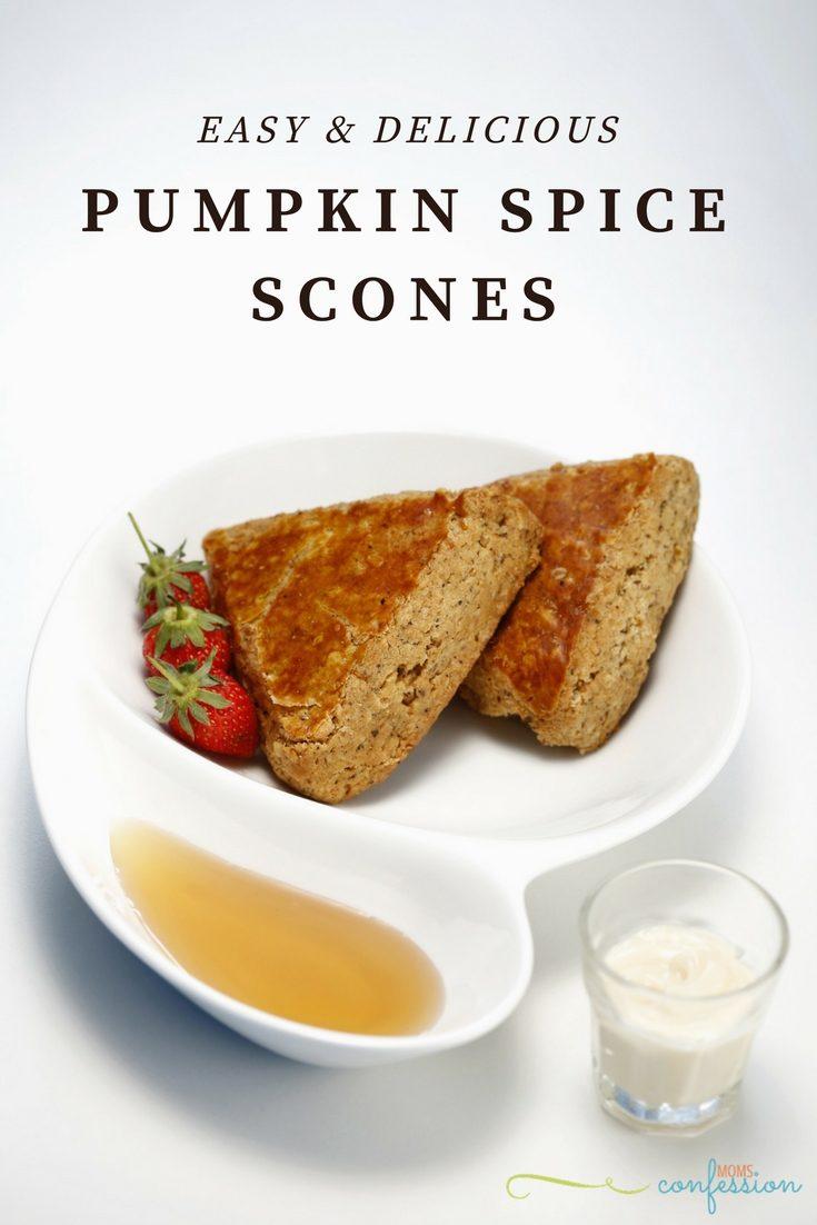 Easy Pumpkin Spice Scones