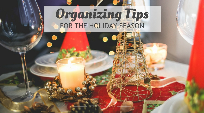 The holidays can be stressful, but you can reduce stress and save your sanity this season with these simple and easy organizing tips for the holidays!