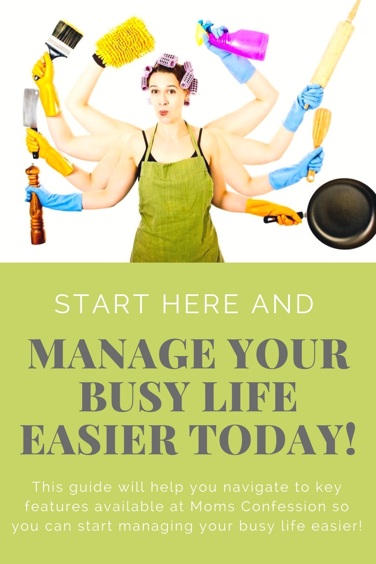 Start here to learn more about Moms Confession and how you can start to manage your busy life easier! Lots of features available to get life back on track.