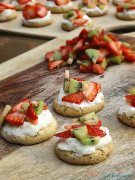 mini fruit pizza cookies recipe