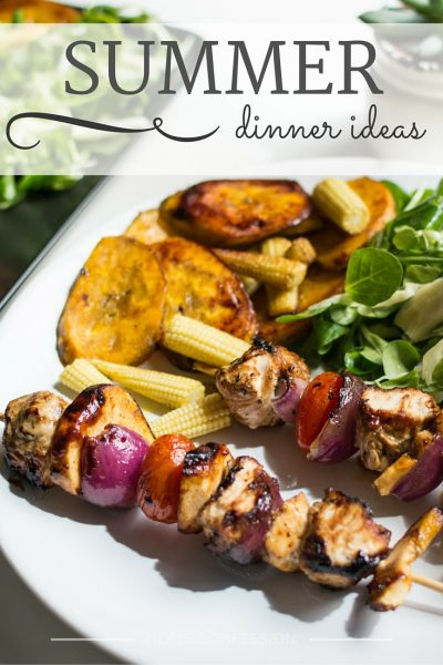 These summer dinner ideas are perfect for enjoying a summer meal outside. Enjoy all of these delicious meal ideas with your family this summer.