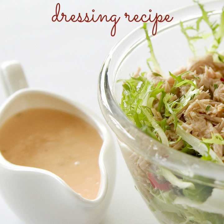 If you are looking for a creamy and very tasty dressing, make sure to put this homemade thousand island dressing on your list! You won't regret it!