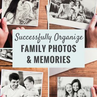 These 5 steps to successfully organize family photos and memories will help you get organized so you can cherish your memories for years.