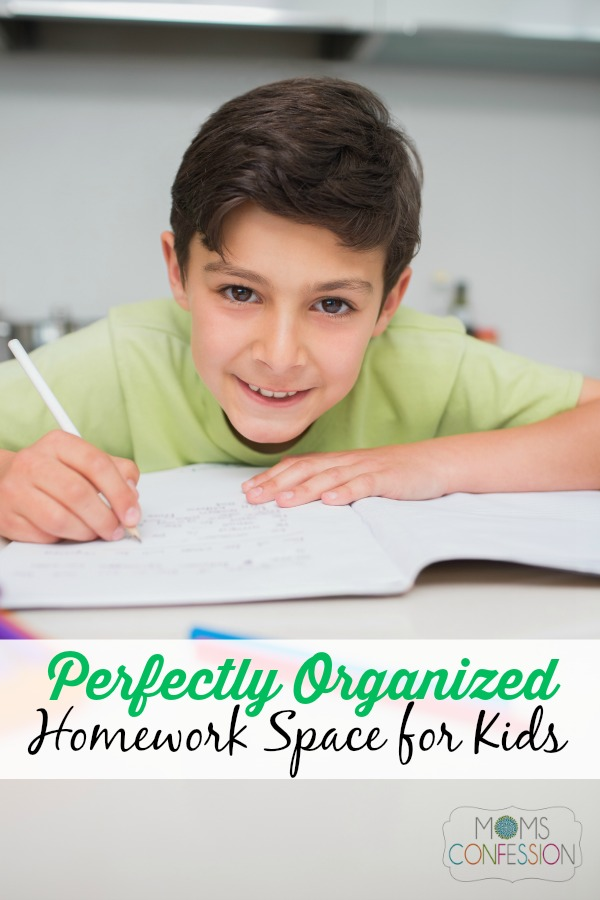 Set up a Perfectly Organized Homework Space for Kids and start the year off right!