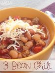 Delicious 3 Bean Chili for summer!