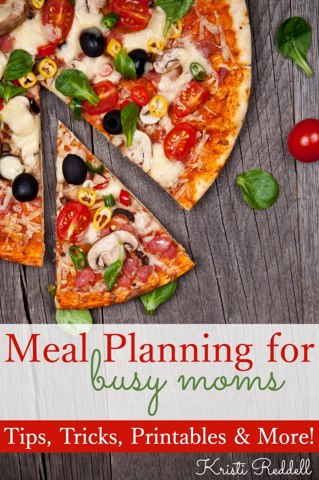 Meal Planning for Busy Moms!!