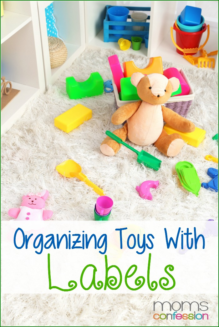 Great tips on organizing toys with labels from toddlers to teens, plus a free printable! | MomsConfession.com