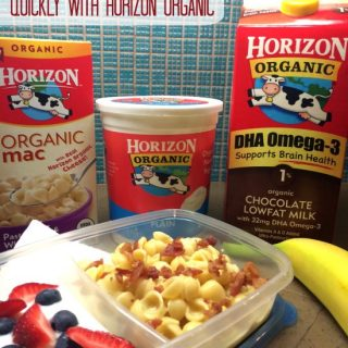 Pack healthy school lunches quickly with the help of Horizon Organic and this bento inspired lunch box for kids!