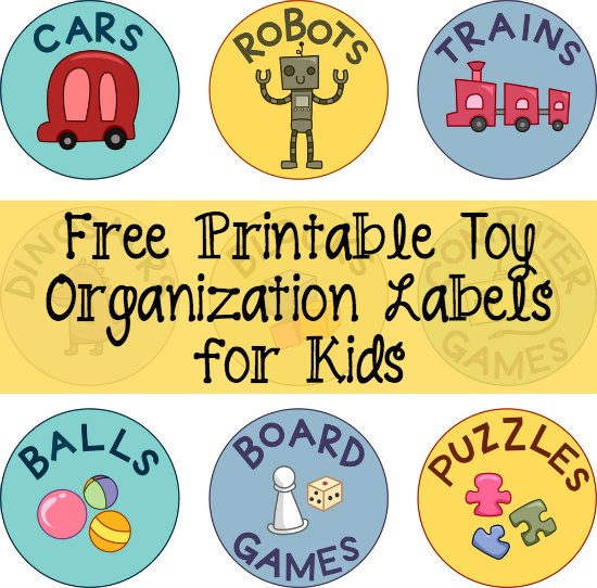 Great tips on organizing toys with labels from toddlers to teens, plus a free printable!
