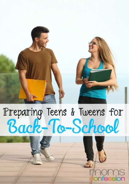 preparing teens and tweens for back to school