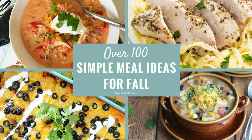 These healthy and simple dinner ideas for fall are the perfect solution for dinner time. Check out the ultimate list of over 100 dinner ideas for fall today!