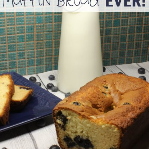 This scrumptious, quick and easy blueberry muffin bread from scratch is so delicious! We made this blueberry muffin loaf and it was devoured in about 5 minutes flat! You must try it yourself!