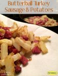 This is probably the best fried potatoes and turkey sausage meal we have had in a long time.