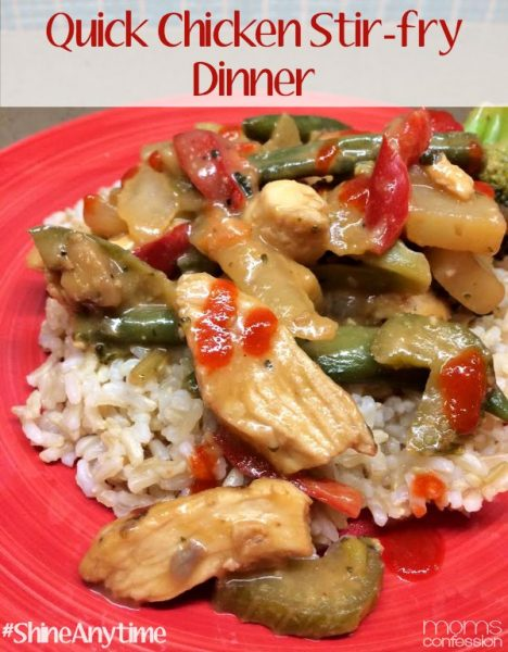 Cooking semi-homemade meals can be a great way to save money and also get dinner on the table in a hurry. Try this quick chicken stir-fry tonight and enjoy dinner in 15 minutes!