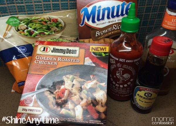 Quick and easy 15 minute chicken stir fry recipe cooking semi homemade can also be a great way to save money i made this amazing stir fry with just the jimmy dean golden roasted chicken bowl forumfinder Gallery