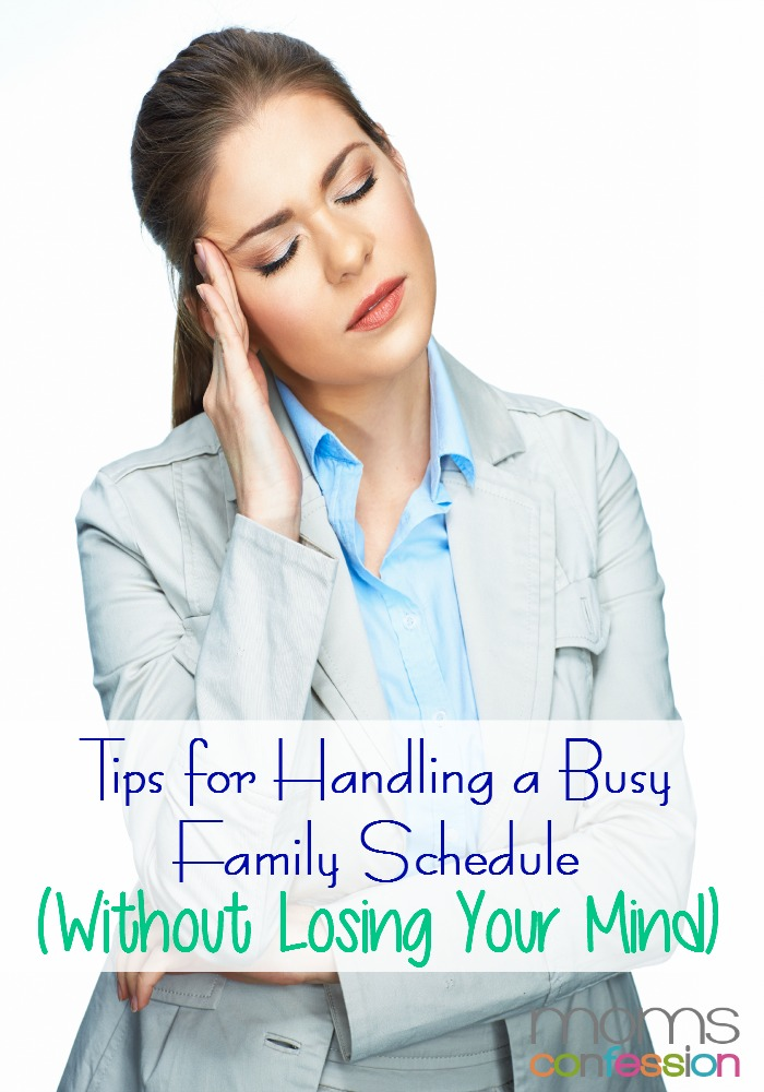 Tips for Handling a Busy Family Schedule