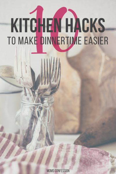These kitchen hacks have made my life much easier when it comes to dinner time. Getting dinner on the table in a hurry is much more efficient these days. Check out these tips today!