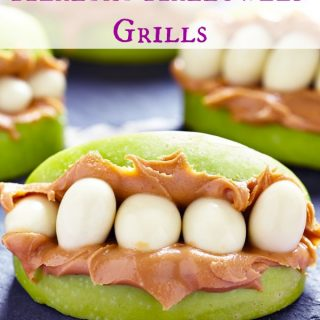 These halloween grills are so fun to make with the kids as an afternoon snack or for your halloween party!