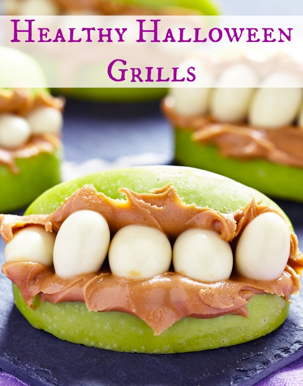 These healthy halloween grills are so fun to make with the kids as an afternoon fall snack or for your halloween party!