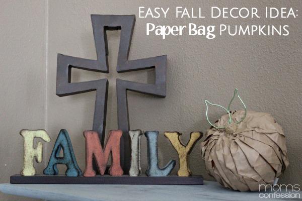 Easy Fall Decor Idea: Paper Bag Pumpkins
