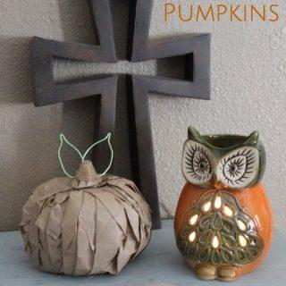 Cute Paper Bag Pumpkins for Fall