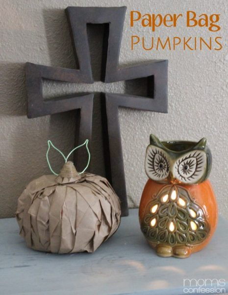 Cute Paper Bag Pumpkins for Fall