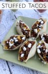 These stuffed taco shells are a little spicy and pack a Tex-Mex punch! Try these stuffed tacos for your next Taco Tuesday meal...everyone will love them!