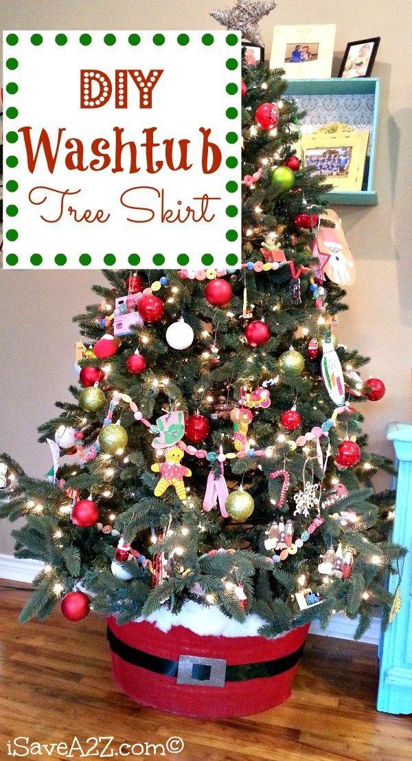 Cute DIY Washtub Tree Skirt by iSaveAtoZ (my inspiration)