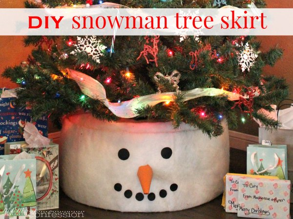 make this snowman tree skirt for your christmas tree too