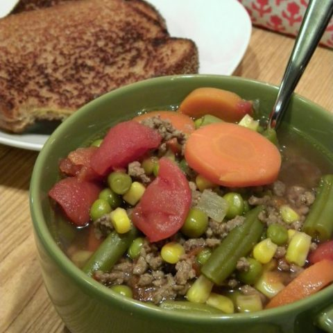 Easy 30 Minute Hamburger Vegetable Soup