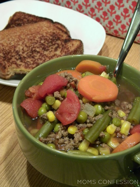 30 Minute Hamburger Soup
