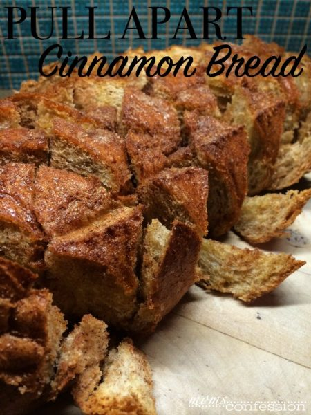 Simple and easy dessert bread to share with everyone...Pull Apart Cinnamon Bread | MomsConfession.com