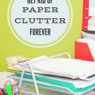 Get rid of paper clutter forever with these tips and tricks. Paper doesn't stand a chance in your life when you get it under control for good!