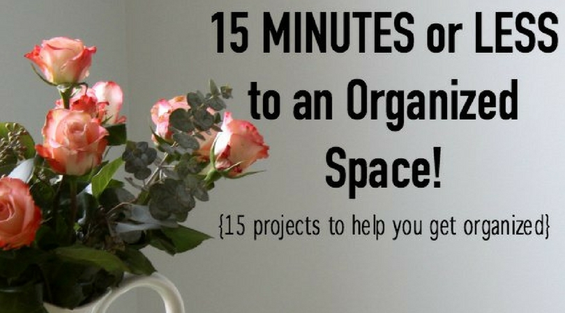 Get organized this year with organizing projects you can complete in 15 minutes or less. Plus, get a free printable to keep in your home management binder.